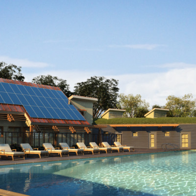 Hyland Village Net-Zero Energy Community Center and Pool