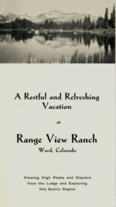 Historic brochure for Range View Ranch